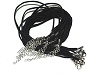 Black Handmade Faux Suede 18 inch Cord Necklace