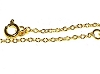 Golden Color Copper 18 inch Chain 1.5mm wide