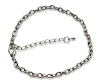 Platinum Color 7 1/2 inch Iron Chain Link Bracelet with Extender