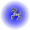 Small Galloping Unicorn Pewter Figurine - Lead Free