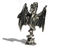Winged Dragon Rising Pewter Figurine - Lead Free