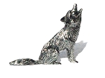 Howling Coyote Pewter Figurine 1 1/2 Inch long - Lead Free