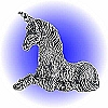 Resting Unicorn Pewter Figurine - Lead Free
