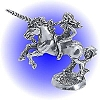 Unicorn and Maiden Pewter Figurine - Lead Free