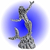 Rising Mermaid Pewter Figurine - Lead Free