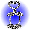 Double Flamingo - Pewter Figurine Lead Free