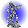 Grim Reaper with Sickle Pewter Figurine - Lead Free.