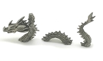 New Mermaid Riding Loch Ness Monster Sea Serpent Pewter Figurine - Lead Free