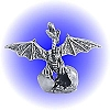 Dragon Wing Hatch Egg Pewter Figurine - Lead Free