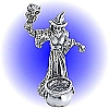 Sorceress with Cauldron and Power Owl Pewter Figurine