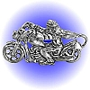 Biker Easy Rider Pewter Figurine - Lead Free.