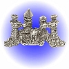 Castle 4 Towers Pewter Figurine - Lead Free