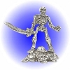 Victory Skelton Warrior Pewter Figurine - Lead Free