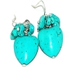 Fashion Heart Shape Turquoise Earrings