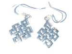Sterling Silver Celtic Infinity Trinity Knot Dangle Earrings.
