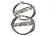 Sterling Silver Wide TAKEN Hoop Earrings