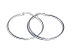 Sterling Silver 50mm Safety Catch Hoop Earrings 2.5mm Thick
