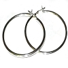 CloseOut - Sterling Silver Italian Pin Catch Hoop Earrings