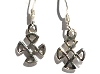Sterling Silver Celtic Compass Dangles Earring
