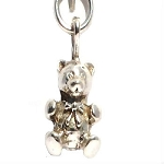 Sterling Silver Solid Teddy Bear Charm Pendant
