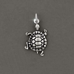 925  Sterling Silver Turtle Charm Pendant