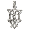 Sterling Silver 925 Celtic Knotted Tear Filigree Charm Pendant