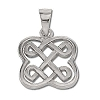 Sterling Silver Celtic  Riddle Knot Pendant