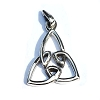 Sterling Silver Celtic Large Tri-Fold Pendant
