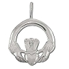 Sterling Silver Large Claddagh Pendant