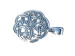 Sterling Silver Celtic Shield Knot Pendant