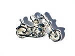 Sterling Silver Bikers Motorcycle Pendant