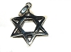 Sterling Silver 6 Point Star of David Double Sided Charm Pendant