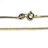925 Sterling Silver Vermeil 24 Inch 1.2 mm Box Neck Chain Necklace
