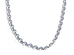 Sterling Silver 18 Inch Rolo 2.1mm Neck Chain Necklace