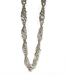 Sterling Silver 20 Inch 4 mm Twisted Curb Neck Chain