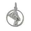 Sterling Silver Nefrateetee Circle Pendant
