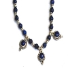 Sterling Silver blue lapis and silver bead 16 inch Necklace