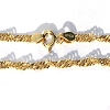 Sterling Silver Vermeil 9 Inch twisted Chain Bracelet