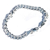 Sterling Silver Italian 8 Inch 6.5mm 6 side Curb 180 Bracelet