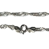 Sterling Silver 9  inch 2.5mm Twisted Chain Bracelet