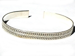 Sterling Silver Hand Made Bali Double Curl Bangle Cuff Bracelet