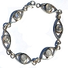 Sterling Silver 8 Inch Simulated Moonstone Bracelet