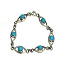 Sterling Silver 8 Inch Hand-Made Turquoise Bracelet