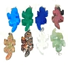 Hand carved Lizard Genuine Stone Pendant - assorted Stones