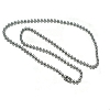 Stainless Steel 24 Inch 3.2mm Ball Link Neck Chain Necklace