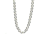 Stainless Steel 18 Inch 3 mm Curved Oval Link Neck Chain Necklace