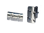 Diamond Cut Diagonal Mens Polished Cuff Links