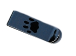 Stainless Steel Engravable Dog Paw Print Money Clip