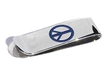 Stainless Steel Engravable Peace Sign Money Clip