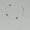 Sterling Silver Bracelets with  assorted colors Cats Eye beads